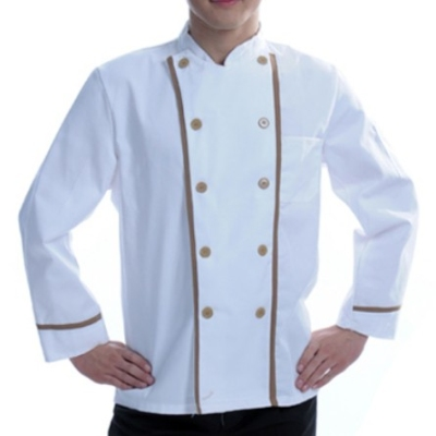 Chef designs white color with brown