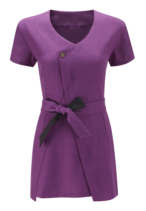 Collarless belt Spa beauty tunic
