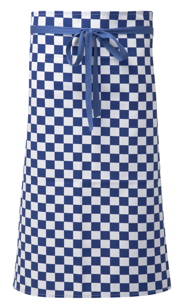 Color bold checkered hospitality waist apron