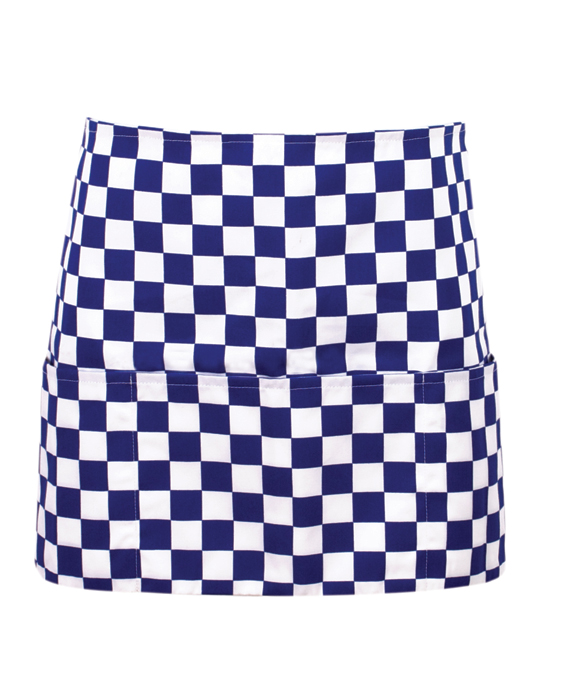 Color checkered Money pocket apron