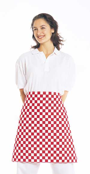 Color checkered serving apron