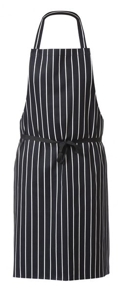 Cotton striped belted apron