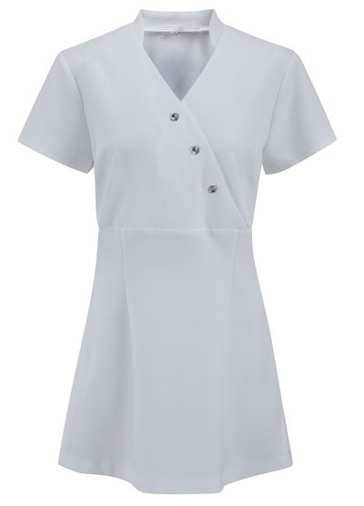 Front crossover button ladies tunic