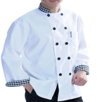 Kitchen Wear White With Grid Design Kitchen Workwear Panda Workwear
