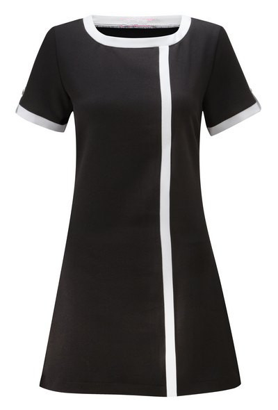 Ladies tunic concealed zip with trim