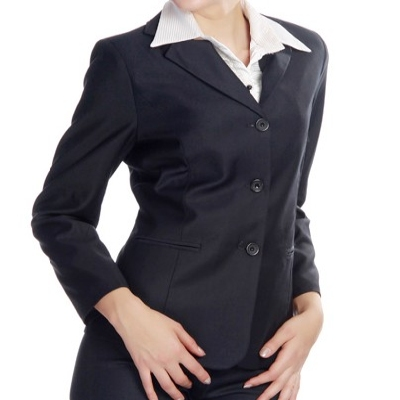 Lady suiting three fastener
