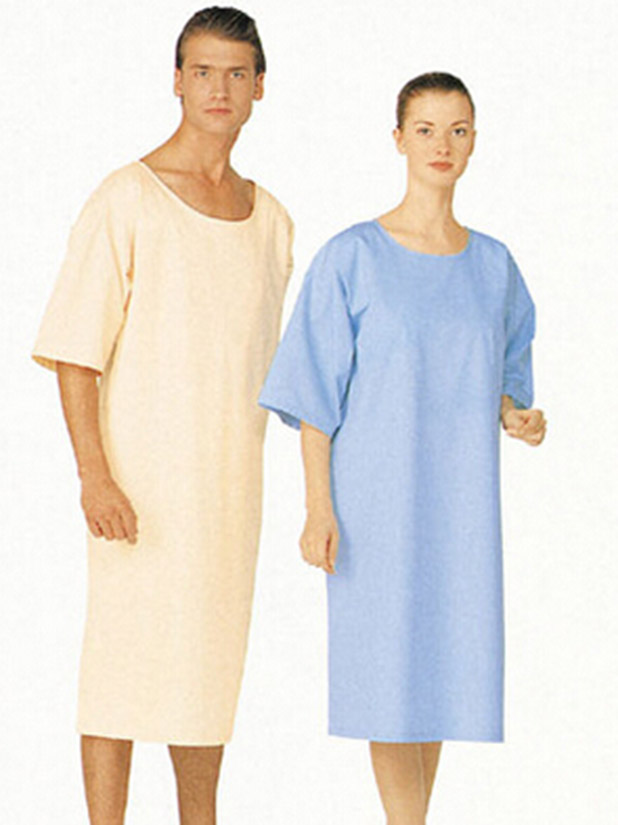 Men plain short-sleeved surgical gown
