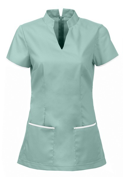Nurse tunic back zipper