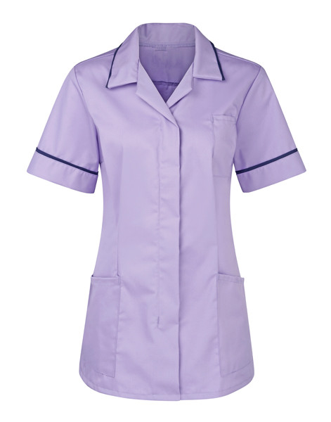 Nurse tunic peaked navy trim