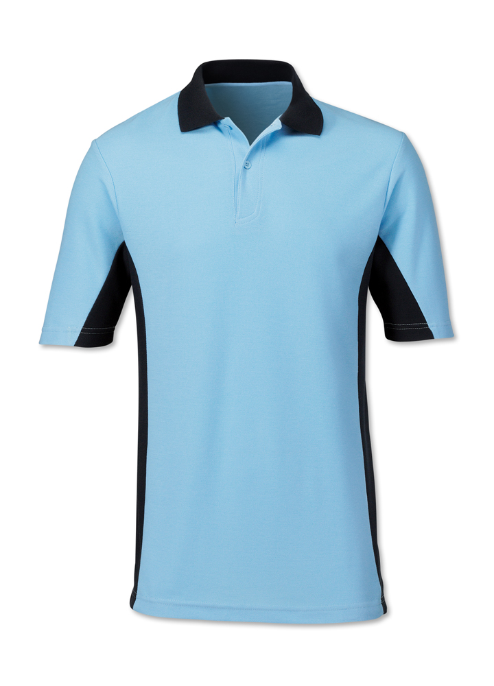 polo shirt with width color trim can be embroidered