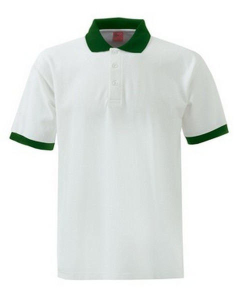 Polo shirt with width color trim
