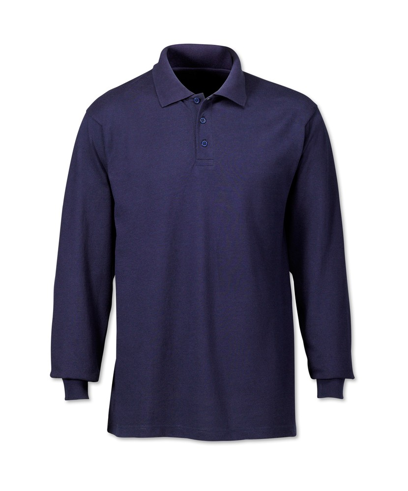 Sleeve cuffs with elastic rib long sleeve polo shirt