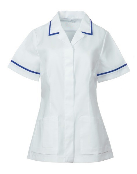 Square collar trim nursing tunic