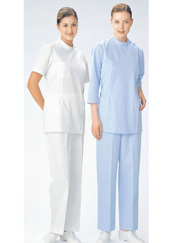 Standing collar women dentist clothing