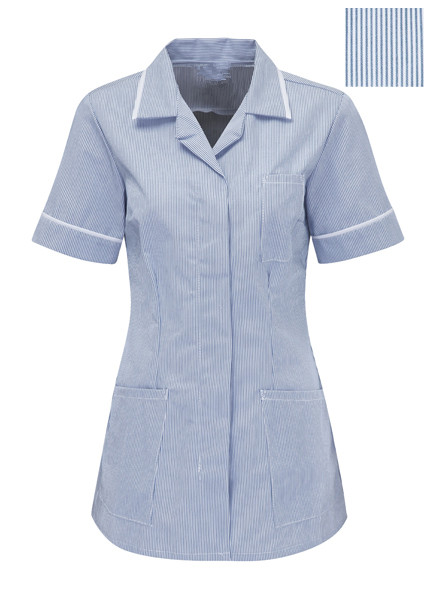 Striped Healthcare tunic Peaked style