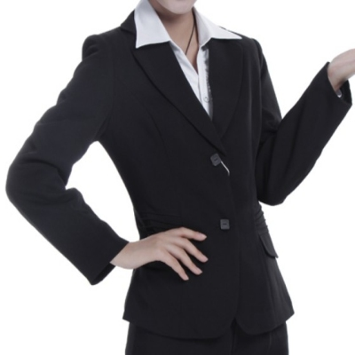 Women suit deep collar