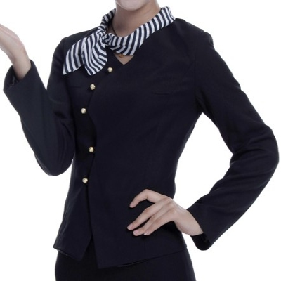 Women suit collarless