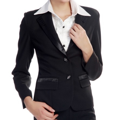 Women suit edge has special design