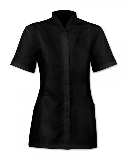 stand collar tunic with concealed button